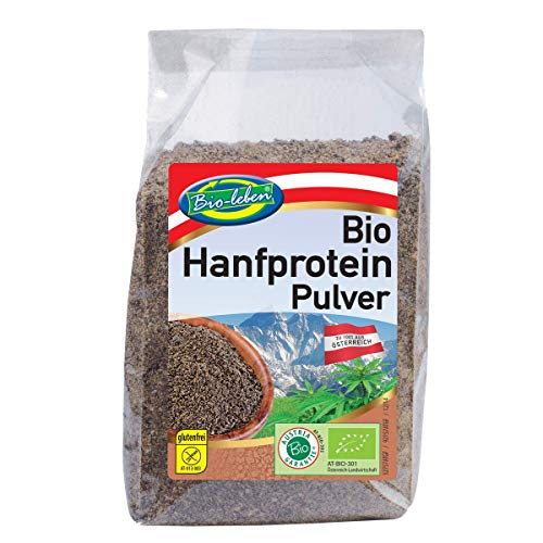 Proteini di Canapa austriaca Bio 42% protein 3,5kg in polvere, crudi, low-carb vegan organic hemp protein powder a basso contenuto di carboidrati senza glutine 100% dall'Austria hemp protein 14x250g