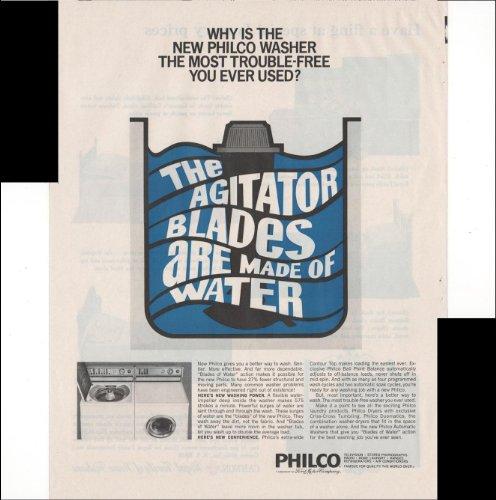 Philco Washing Machine Dryer Appliance Home 1966 Vintage Antique Advertisement