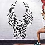 Gym Sticker Fitness Muskel Hantel Deko Wandbild Gym Sticker 58x84cm