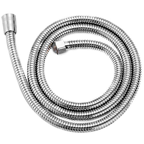 59-inch Shower Hose Shower Head Hose Stainless Steel Handheld Showerhead Hose Replacement with Polished Chrome in Silver