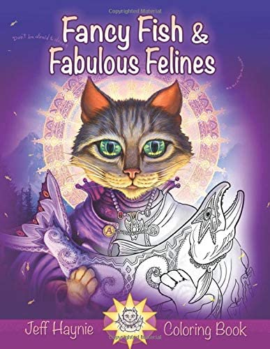 Fancy Fish and Fabulous Felines A fishy feline coloring book adventure product image