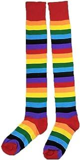 Falda de Tutu Mujer,SHOBDW Fiesta De Cumpleaños para Adultos Arco Iris Regalo Rendimiento Traje de Baile Guantes Largos Muslo Medias Altas Pettiskirt Set de Accesorios
