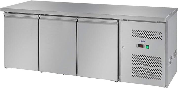 Tavolo refrigerato banco frigo con piano di lavoro royal catering rclk-s339