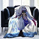 Anime Flannel Fleece Plush Blanket Air Conditioning Blanket Plush Fuzzy Lightweight Super Soft Luxury Cozy for Bed/Sofa/Camping 60'x50'
