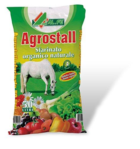 ALFE Agrostall concime sfarinato Organico Naturale Biologico 50 Litri per orto Fiori e Giardini