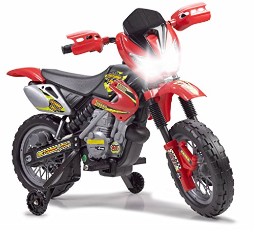 FEBER 6V Motorbike Cross, 400F, 6 V Color Negro, Gris, Rojo, Amarillo Famosa 800011250
