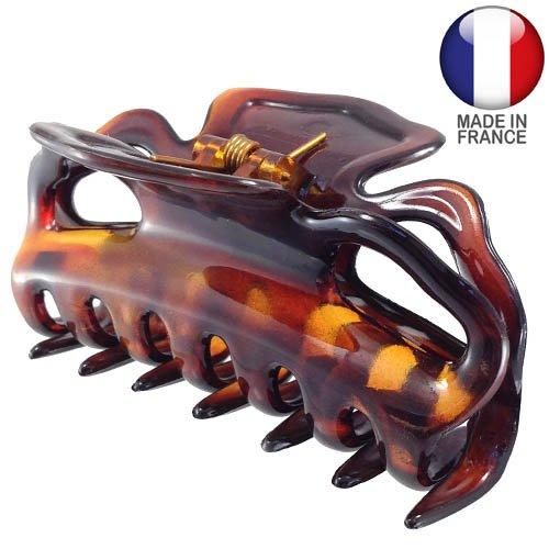 214-003 – Pince à cheveux française 9 cm couleur tortue – Pince à cheveux