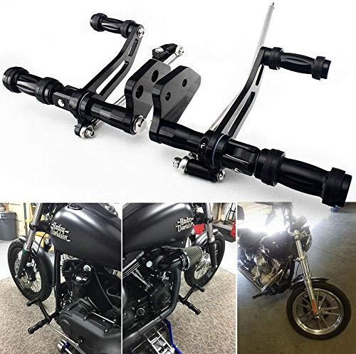 TARAZON CNC Billet Forward Controls Footpegs for Harley Davidson Dyna Street Bob Lower Rider Super Glide