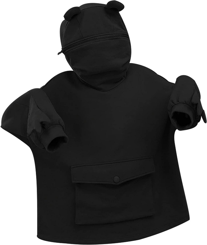 Sweatshirts for Women Hoodie,Frog Hoodie for Teen Girls Kawaii Pullover Trendy Pocket Long Sleeve Cute Mouth Tops