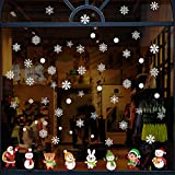 Pegatinas de Navidad BESTZY Copo de Nieve Estática Pegatina Pegatinas de Navidad para Ven...