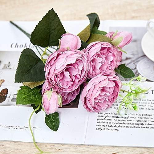 zhenxin Inexpensive Artificial Flowers Pink Rose Peony Ranking TOP10 Bo