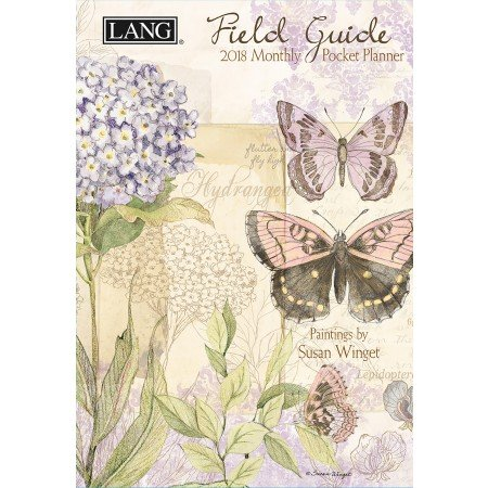 """LANG - 2018 Monthly Pocket Planner - """"Field Guide"""" - Artwork By Susan Winget - 13 Month - January to January - Portable 4.5"""" x 6.5"""""""