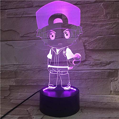 Boutiquespace Night Light for Children Monster 3D Night Light LED Bedside Lamp 7 Color Changing Christmas Halloween Birthday Gift Toys for Child Baby Boy