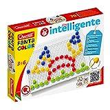 Quercetti-Quercetti-2123 FC Básico d.15-Juego Educativo de mosaicos, Multicolor (2123)