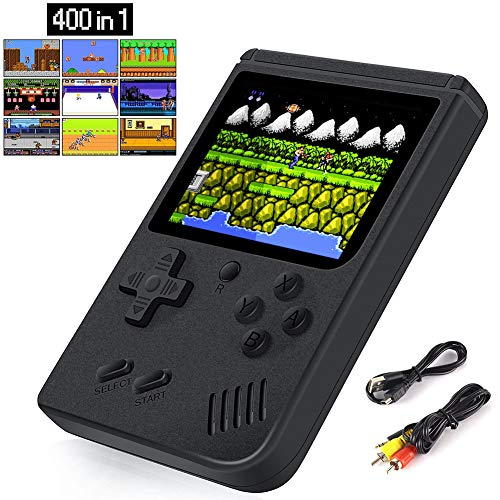 Handheld Games Console for Kids Adults, Retro Video Games Console Arcade Game with 400 Classic FC Games