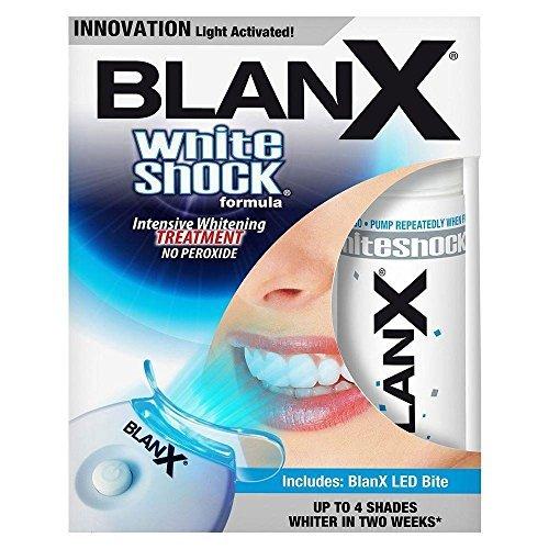 BlanX White Shock Whitening intensieve kuur + led-lichtrail voor wittere tanden met LED-behandeling, 30 ml