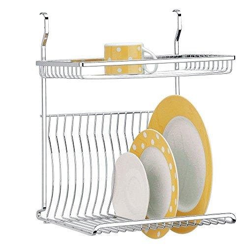 Escorredor de Pratos Capacidade para 16 Pratos Piatina Plus, 33 x 22,5 x 40 cm,Aço Inox, Brinox