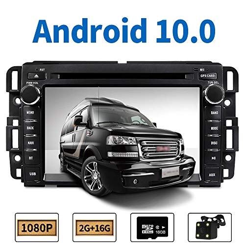 Car Stereo Radio in Dash Navigation for GMC Sierra Yukon Chevrolet Buick Chevy Silverado,7 inch HD Touchscreen Android 10.0 Double Din DVD Player Bluetooth