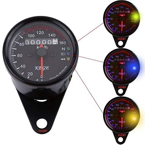 Terisass LCD Tachimetro Contachilometri Digitale Digitale Moto Motociclo Contachilometri Universale