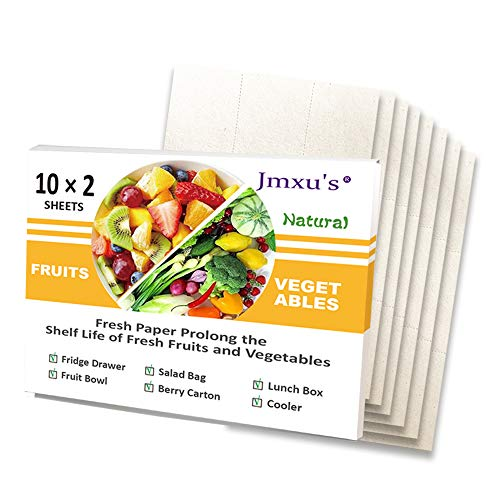 """Food Saver Paper Sheets Vegetables & Fruits Fresh Paper Produce Perfect for Food Storage, BPA Free, Extends the Life of Your Produce & Prevents Spoilage (8.2""""×5.9"""