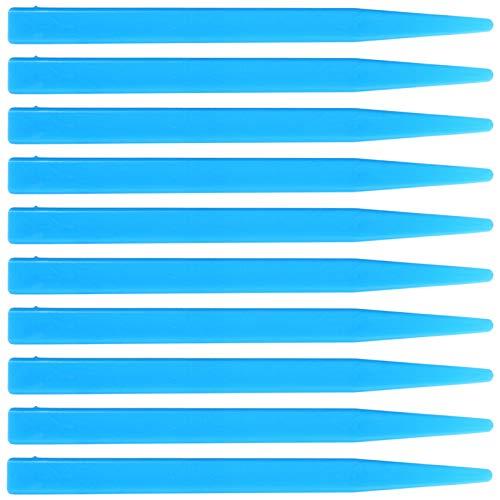 ULTECHNOVO 10 Piezas Espátula de Mezcla Dental Espátula de Mezcla de Plástico Espátula Recta Dental Espátula de Alginato Cuchillo Herramienta de Yeso (Azul)