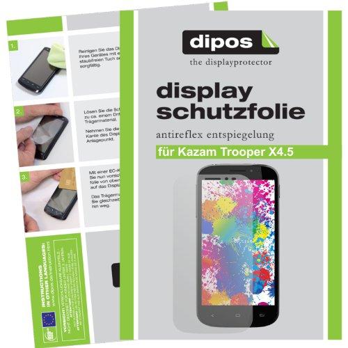 dipos I 2X Schutzfolie matt kompatibel mit Kazam Trooper X4.5 Folie Bildschirmschutzfolie