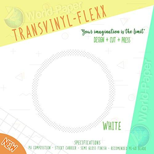 "Heat Transfer Vinyl 10"" x 1 Yard Roll T-Shirt Iron ON All Cutting Machines (White)"