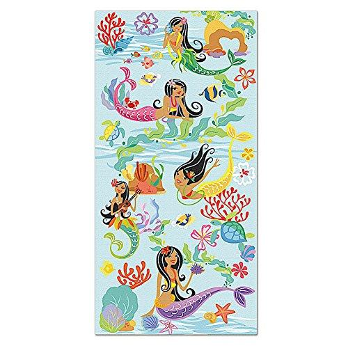 Hawaii Beach Towel Island Hula Mermaids