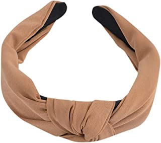 LENXH Wide-Brimmed Hair Band Bow Hair Band with Solid Color Headband Hairpin Hairpin Simple Hair Ring