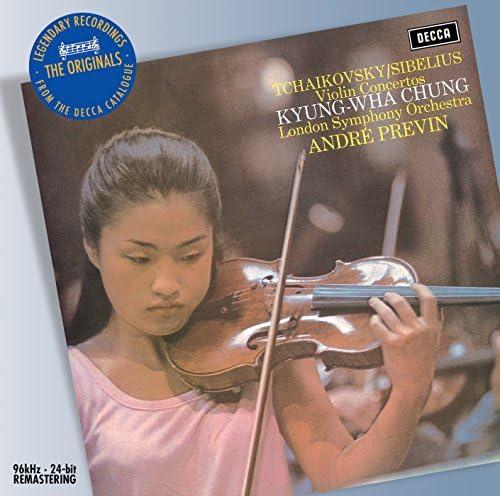 Kyung Wha Chung, London Symphony Orchestra, André Previn, Jean Sibelius & Pyotr Ilyich Tchaikovsky