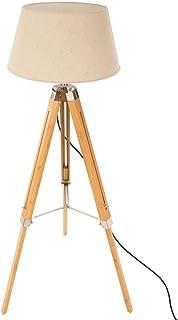 AC-Déco Lampadaire trépied en Bambou - H 146 cm