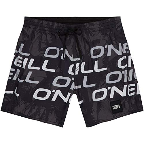 O'Neill Herren PM Stacked Badehose, Schwarz All Over Print, L