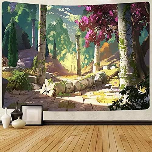 Selva Tapiz De Indio Para Colgar En La Pared Tapiz Psicodélico Bohemio Colorido Tapiz Hippie Misterioso Y Estético Para Dormitorio Sala De Estar Decoración De Pared Tapiz Artístico59X79Inch(150X200Cm)