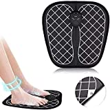HOMESTY Electric Foot Stimulator Massager, Folding Portable Electric Massage Mat, Full Automatic Massage Foot Circulation Massager Body Machine for Men Women 6 Modes 10 Intensity Levels