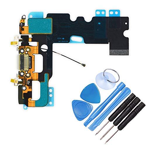DE TECH DOCTOR vervangende USB Charge Port Flex Kabel Microfoon voor iPhone 7 - Compleet met gereedschap - Professionele Reparatie Kit, Kleur: wit