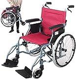 QIDOFAN - Silla de ruedas plegable autopropulsada, silla de ruedas de acero ligero con freno de mano, respaldo plegable y cinturón de regazo, reposapiés ajustable, verde, 55,8 cm