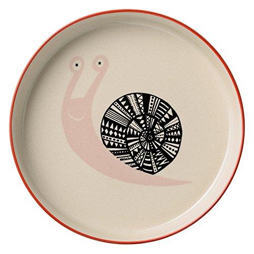Bloomingville Keramik Mollie Schüssel mit geringen Nude Schnecke, multicolor