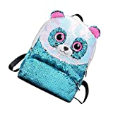 TENDYCOCO elegante borsa da viaggio per zaino con paillettes panda borsa da viaggio per bambini bambini ragazze (azzurro)