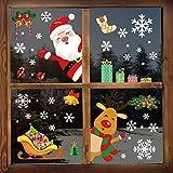 YILEEY Decoration Noel Stickers Fenetre, 160 Morceaux de Flocon de...