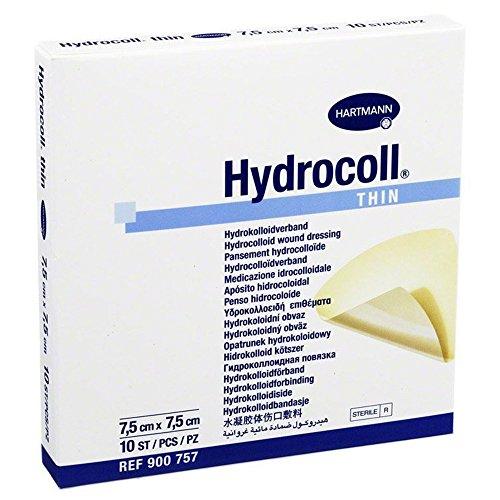 Hydrocoll Thin Wundverband 7,5x7,5 cm, 10 St