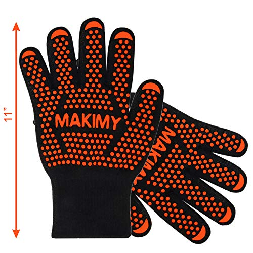 BBQ Gloves For Baking & Grilling – Heat Protection for Barbecue, Grill, Oven, Cooking, Smoking - Size M
