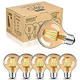 Bombillas vintage Edison E27 LED de color blanco cálido, bombilla vintage E27 de 4 W, bombilla retro, ideal para nostalgia e iluminación retro, 6 unidades
