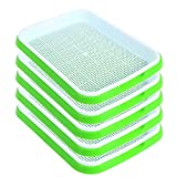 SHEING Seed Sprouter Tray 5 Pack, BPA Free Nursery Tray Seed Germination Tray Healthy Wheatgrass...