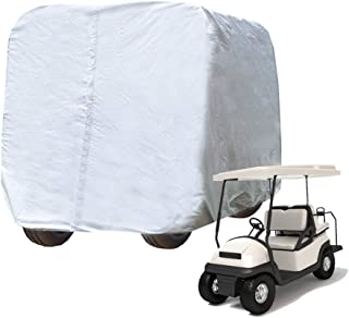kayme 4 Passenger Golf Cart Cover, 4 Layers Heavy Duty Outdoor Cover for Ez Go Club Car Yamaha Golf Carts, Waterproof Sunproof Dustproof (Up to 112 Inch)