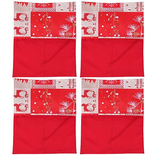 DAUERHAFT Funda para Silla navideña, 57,5 x 47,5 cm, poliéster, Protector para Silla navideña, Duradero, para decoración navideña para Mejorar Las atmósferas Festivas