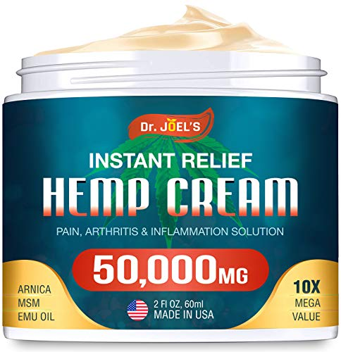 Pain Relief Cream - Maximum Strength 50,000 MG - Fast Relief from Pain, Ache, Arthritis & Inflammation - Made & 3rd Party Lab Tested in USA