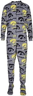 Concepts Sport University of Iowa Hawkeyes Union Suit Unisex Fleece Footed Pajama
