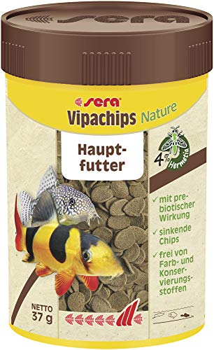 sera vipachips das Hauptfutter aus sinkenden Chips für alle Bodenbewohner im Aquarium, 100 ml
