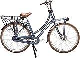 Vogue Elite - Bicicleta eléctrica de ciudad (28', 50 cm, freno de llanta 3G, color azul oscuro