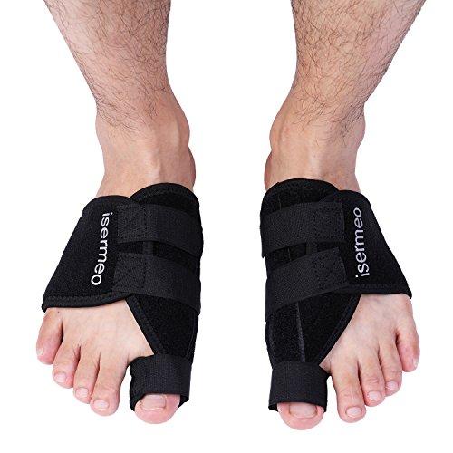 isermeo Orthese, bei Hallux Valgus, korrektive Klettschiene - schnelle Linderung von Zehenschmerzen bei Nacht - für Damen und Herren (2 Stück)